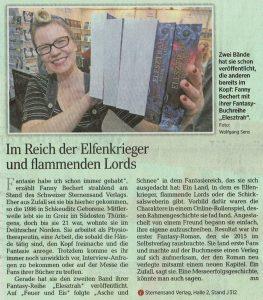 Zeitungsartikel über Fanny Bechert