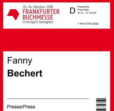Akkreditierung zur Frankfurter Buchmesse 2018