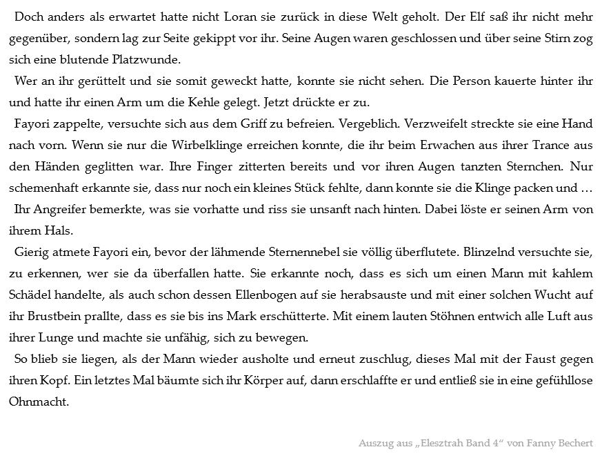 "Leseprobe zu ""Elesztrah 4"" von Fanny Bechert"