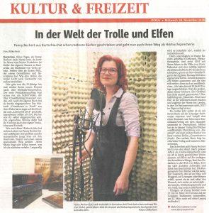 INterview der OTZ mit Fanny Bechert